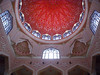 Red Ceiling (Kombizz) Tags: red window architecture circle geometry islam religion decoration mosque ceiling malaysia dome kualalumpur masjid putra islamicart putrajayamosque redceiling 1470 pinkmosque masjidputra noorgir kombizz noorghir