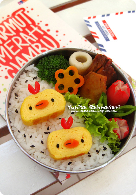 Tamagoyaki Chicks Bento