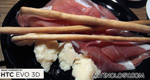 Parma ham with cheese