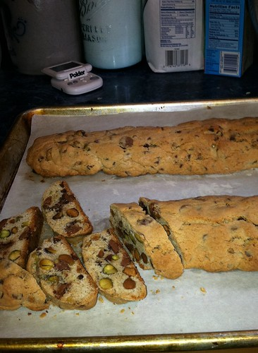 Cinnamon Biscotti with Pistachios