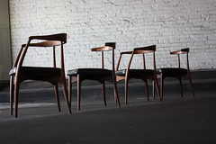 Poetic Solid Walnut Dining Chairs by Lawrence Peabody for Richardson Nemschoff ( 1960's) (Kinzco) Tags: by for lawrence chairs walnut poetic dining peabody solid richarson nemschoff