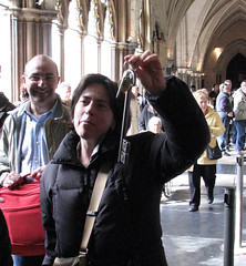 Ha Ha, I got the Key! (Gem Images) Tags: uk london church westminster abbey westminsterabbey lady key treasury vault
