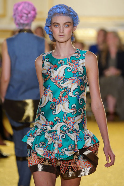 Thakoon - Baroque, baroque prints, flourishes, fashion, runway