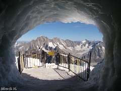 life changes, when you cross the gate... (scmartinek) Tags: mountain france climbing northface chamonix iceclimbing montblanc icecave aguilledumidi highmountain massifdumontblanc