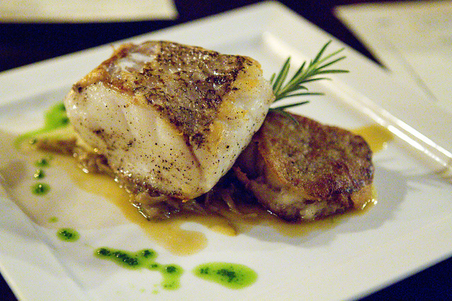 Hake with Heritage Pork Trotters