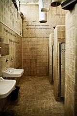lis (fallort) Tags: shadow white black reflection texture book innenarchitektur text struktur toilet silence architektur lissabon phrase papier idee beton washbasin vertikal horizotal
