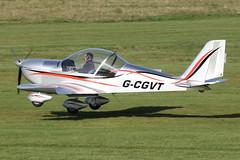 G-CGVT - 2011 build Aerotechnik EV-97 Eurostar, arrives at Barton for Mainair Flying School (egcc) Tags: manchester 912 eurostar aviation barton microlight rotax cityairport ev97 cosmik mainair aerotechnik egcb mainairflyingschool gcgvt