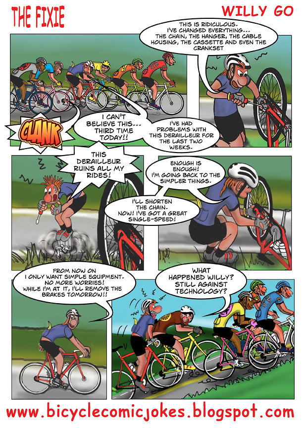 BICYCLE COMIC JOKES The Fixie