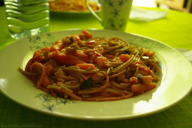 275/365 Pasta con verduras (Vegan)