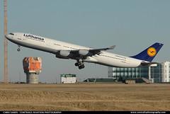 Lufthansa A343 AIGI ($and$man) Tags: calgary star airbus takeoff lufthansa a340 alliance