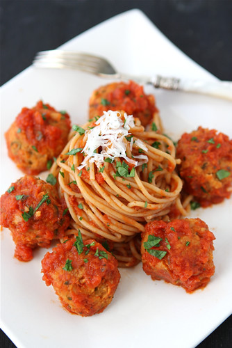 "Cannellini-Bean-Vegetarian-""-Meatballs""-with-Tomato-Sauce-Recipe-Cookin-Canuck"