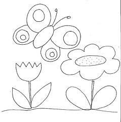 borboleta e flores (sorrisando- patch e afins) Tags: flores borboleta molde aplique