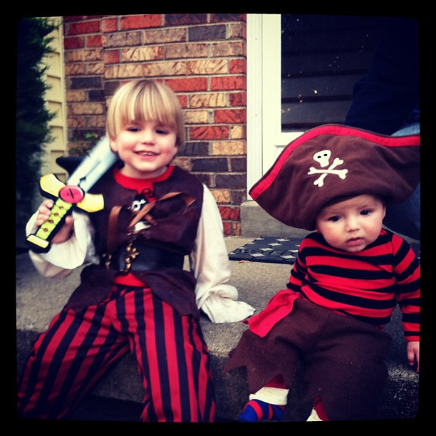 Captain Liam and his first mate Dex