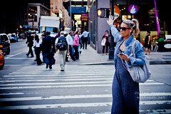 Taxi! (Julien Prnat) Tags: nyc newyorkcity red woman newyork car yellow walking hand dress jean robe walk taxi femme main yellowcab pedestrian voiture blonde pedestrians stoplight gotham handsup lunette sunray zebracrossing voitures yellowcar glasse gothamcity blondhair piton bluejean pitons sunglasse handup lunettedesoleil capitaloftheworld passagepitons womanhand feupiton stopligh canon5dmarkii mainenlair taxiplease womanarm