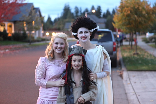 80's Bridesmaid, Jack Sparrow & Bride of Frankenstein