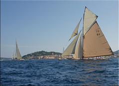 Tuiga  shows her beauty to the town of Saint-Tropez (mhobl) Tags: france sailing regatta cambria sainttropez tuiga tuigad3 cambriak4