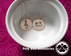 love & music (Paty Boo Acessrios) Tags: love silver heart boo musica corao prata clavedesol