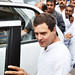 Rahul Gandhi in Varanasi with the supporters