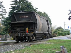 Tasmanian coal hopper (sth475) Tags: railway railroad train freight goods wagon car freightcar rollingstock coal open bulk hopper bottomdischarge narrowgauge hfclass hf27h endoftrain eot deloraine tasmania australia autumn