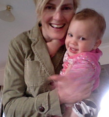 Jacket with baby as accessory.