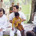 Rahul Gandhi in village chaupal, Sant Ravidas Nagar (26)