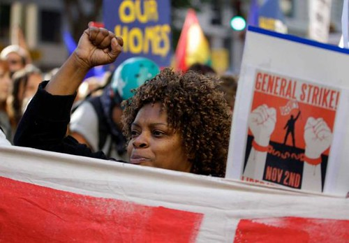 Thousands march through the streets in Oakland, California on November 2, 2011 during a general strike. People around the country marched in solidarity with Oakland. by Pan-African News Wire File Photos