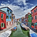 Burano houses of colours by Giuseppe Sapori