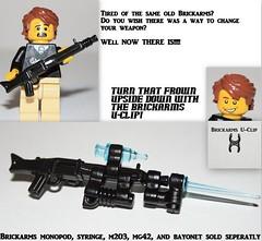 G.I. BRICK contest entry: U-Clip (orfentage) Tags: lego contest brickarms gibrick
