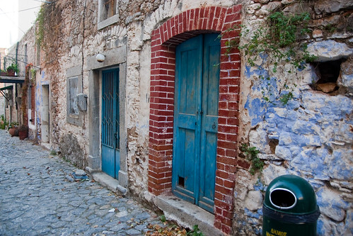 Blue door in Mesta