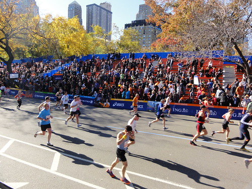 Marc in the final stretch to the finish line
