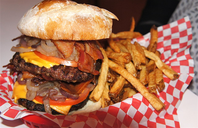 Heart attack burger