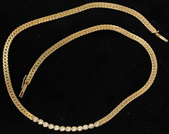 4017. 14KT Diamond Necklace