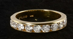 4036. 14KT Diamond Band, Henry Guild & Sons