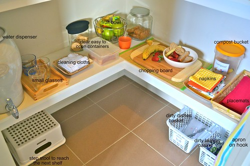 Food Preparation Area (Photo from How We Montessori)