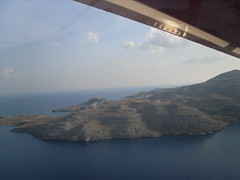 Birthday flight - Coastline (pefkosmad) Tags: birthday airplane village view hellas nikos greece coastline acropolis greekislands pefkos rhodes lindos dodecanese rodhos pleasureflight zenairch701stol