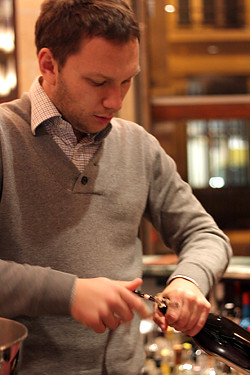 olivier magny at Ô-chateau wine bar in paris