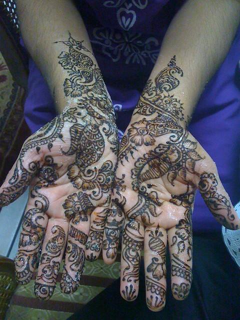 Eid henna on Rehana