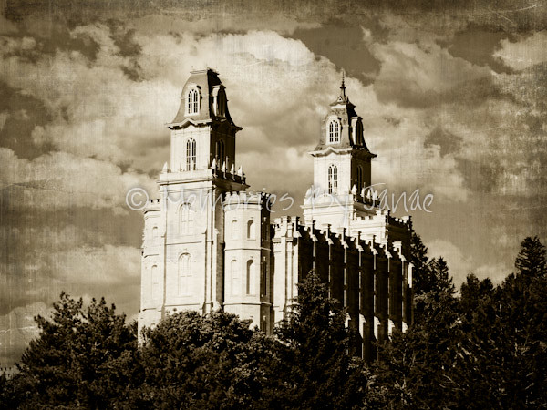 Manti Vintage LDS Temple Prints -2-2