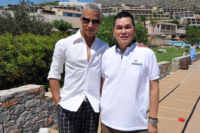 America's Next Top Model photoshoot's creative director Jay Manuel and Bench CEO, Ben Chan.