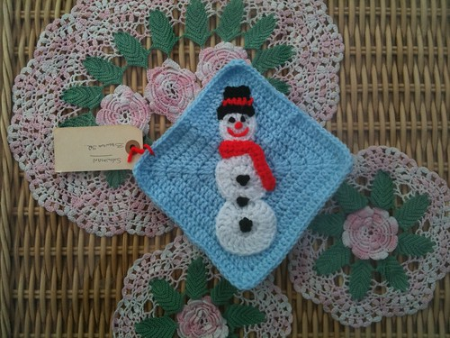 BrendaS2 - Your Snowman Square has arrived thank you!