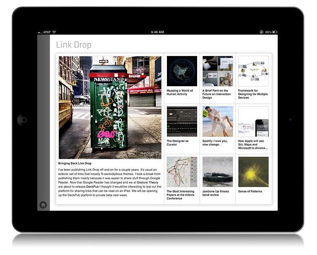 DeckPub LinkDrop Contents Page