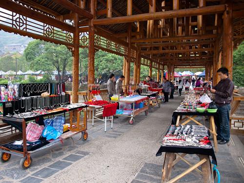 Xijiang - puestos de souvenirs