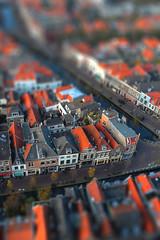 View of Delft, Netherlands (Benn Gunn Baker) Tags: houses red holland church haarlem netherlands dutch amsterdam canon miniature baker view small fake shift delft tilt kerk benn gunn nieuwe tiltshift 550d t2i