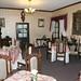 La sala da pranzo d'epoca dell'Hostal Sucre, dove si faceva colazione