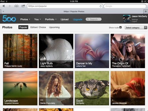 500px Popular Page