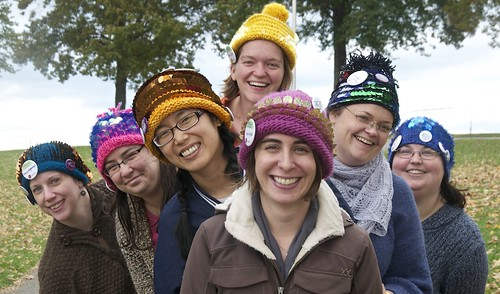 this year's hats at Rhinebeck