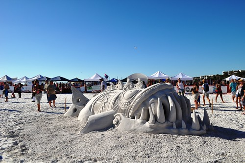 "Chris Guinto and Rusty Croft, ""Something Fishy"" Earned Second Place, Siesta Key Crystal Classic Master Sandsculpting Competition, Sarasota, Fla., Nov. 13, 2011"