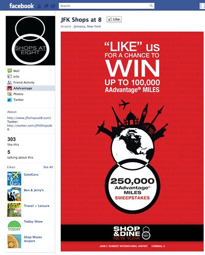 JFK Shops at 8 Facebook promotion