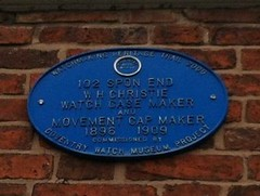 Photo of W. H. Christie blue plaque