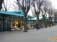 Flower vendors got new premises recently in central Riga, Latvia. November 20, 2011 (Aris Jansons) Tags: park city november flowers autumn fall capital baltic latvia sidewalk pavilion walkers riga vendors lettland rga latvija 2011 terbatasstreet vrmanesgarden